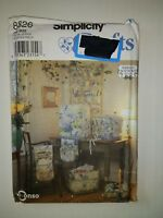Simplicity 8826 Sewing Accessories Wall Organizer Sewing Basket Serger Cover