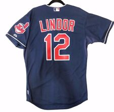Authentic Majestic, 54 3XL CLEVELAND INDIANS, FRANCISCO LINDOR, COOL BASE Jersey