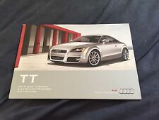 2012 Audi TT Coupe and Roadster USA Color Brochure Catalog Prospekt