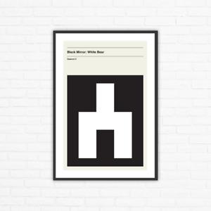 Black Mirror Season 2, Episode 2: White Bear Minimalism Movie Poster