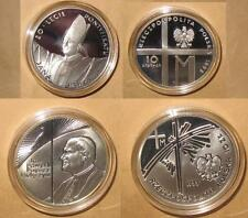 1998 +1999 Poland 10 zl POPE JOHN PAUL II  Proof (PP) 2 pcs Silver Coin