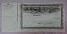 ARGENTINA Tramways & Power C° specimen Bradbury 1922 share utilities railroad
