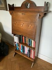More details for arts and crafts art nouveau bureau bookcase with inlay detail