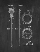 Lacrosse Stick Patent Print Chalkboard