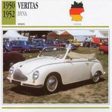 1950-1952 VERITAS DYNA Sports Classic Car Photo/Info Maxi Card