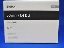 Sigma 50mm F1.4 DG HSM Art For Canon Mount  Camera Lens Japan Model New