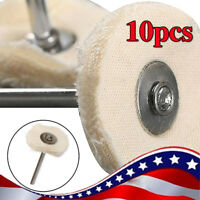 10 White Polishing Cloth Cotton Pad Buffing Wheels Jewel Accessories Rotary Tool