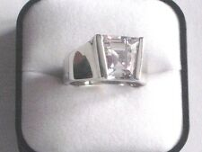 RS-CAND-R-CZ Silver Plated F A C Crystal Gents Ring Sizes UK R T V £300.00 each