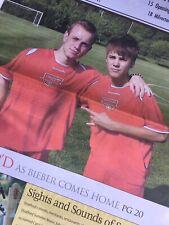 **Rare** JUSTIN BIEBER Newspaper 2011 Hometown Stratford