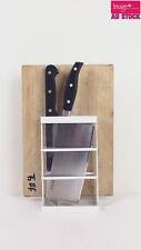 Modern White Chopping Board & Knife Stand Plastic Organizer Kitchenware PEC2310