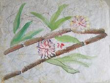 "Painter Suzanne Obrand, Holocaust Survivor, Painting ""Watercolor on Silk #2"""