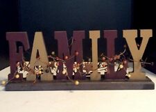 Family Wooden Pit Berry 3 D Sign Table Decor Family Sign