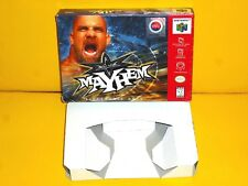 LOT OF 3 GAMES MAYHEM & HEXEN N64 BOX & INSET ONLY + SHERLOCK HOLMES SEGA CD GAM