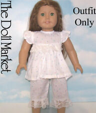 "New ""White Paw Print Pajamas""  #85730L fits 18"" American Girl Dolls"