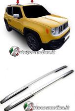 2 Barre Longitudinali Tetto Portapacchi  Argento per Jeep Renegade