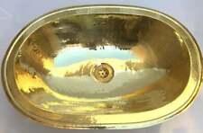 New Moroccan Brass Oval Handmade Medium Wash Basin Copper Sink Hand Hammered