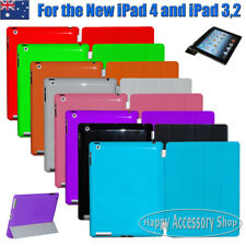 Apple New iPad 4,iPad 3/2 Smart Cover Skin Case and Solid Colour Hard Back Case