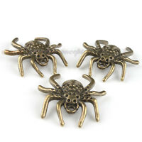 30x New Alloy Spider Vintage Bronze Charms Pendants Jewelry Findings Fit Craft J