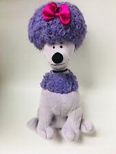 "KOHL'S CARES KIDS Cleo Clifford Purple Poodle Dog Plush Stuffed Animal Toy 12"""