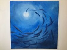 ORIGINAL Acryl Gemälde abstrakt HANDGEMALT modern Kunst Malerei Bild 80x80