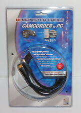 MONSTER CABLE CAMCORDER TO PC J2 CAMAV DV-6 4 PIN FIREWIRE DV 6 FT 140254-00 NEW
