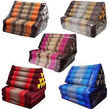 Triangle Pillow Fold Mattress Floor Cushion Bed Fabric Kapok Cutton Thai Pattern