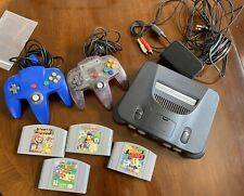 Nintendo N64 Console Super Smash Bros Mario 64 Kong Racing WORKING FREE SHIPPING
