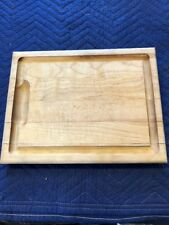 "14"" X 11"" By 1 1/2 Wood Cutting Board With Juice Groove Made In Vermont"