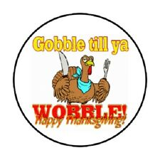 "48 Gobble Thanksgiving!!!  ENVELOPE SEALS LABELS STICKERS 1.2"" ROUND"