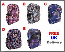 COSMOS SPACE RUCKSACK Backpack Galaxy Star Universe Emo Goth Hype School Bag