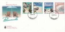 Bermuda 2013 FDC Beaches II 4v Set Cover Tourism Jobson's Cove Southlands Beach