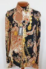 Vintage VERSACE JEANS COUTURE BAROQUE MEDUSA LION Printed Shirt XXXL M/L