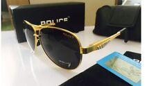2017 nuova moda men's Occhiali da sole polarizzati occhiali di guida + scatola regalo... E-Dorato