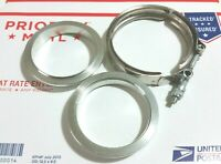 """3"""" inch Stainless Steel #304 V band Vban Clamp w/2 Flange Turbo Exhaust SS304"""