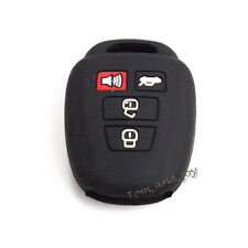 New Black Silicone Key Shell Cover 4 BTNs for Toyota Camry Corolla Remote Key