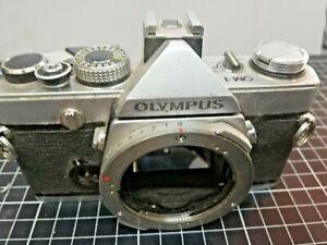Olympus OM-1 35mm SLR MF Film Camera Silver Body Only