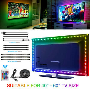 LED Backlight TV Hintergrundbeleuchtung USB Lichtstripe 2M Streifen RGBW PC-Band