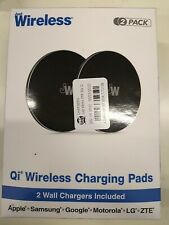 Just Wireless 2pk 5W Qi Wireless Charging Pads (with Wall Adapters) - Black  D4