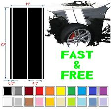 Hood fender hash bars stripes decals for Nissan Honda MINI Ford KIA BMW Hyundai