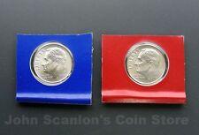 2010 P+D Roosevelt Dimes 2-Coin Set (In Mint Plastic) BU Satin Finish