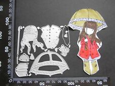 *Cutting Dies**UMBRELLA GIRL**Birthday**Card**Topper