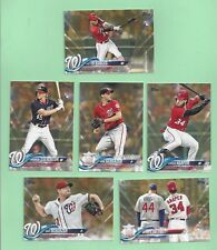 2018 Topps Gold 1st & 2nd series Washington Nationals team set - all 28 cards +1