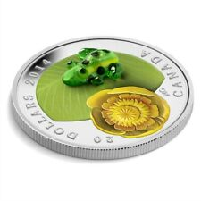 CANADA $20 2014 Silver Proof ' Water-Lily & Venetian Glass Leopard Frog' Box/CoA
