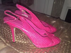 M&s Limited Collection Magenta Leather Shoes 5 New