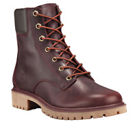 Timberland Women's Jayne 6 Inch Waterproof Leather Lace Up Boots - Burgundy