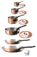 Mauviel M'250c 10 Piece Copper & Stainless Steel Cookware Set w/ Cast SS Handle