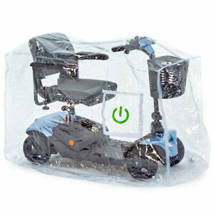 Clearview Perspex Clear Plastic Waterproof Storage Cover for Mobility Scooter