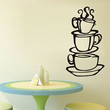 Removable DIY Home Kitchen Decor Coffee House Cup Decals Vinyl Wall Sticker