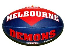 65689 MELBOURNE DEMONS AFL TEAM FULL SIZE SYNTHETIC FOOTBALL FOOT BALL FOOTY
