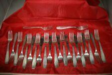 23 grandes fourchettes Alfenide Christofle Luc Lanel modèle cirta